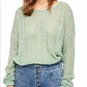 🆕Free People Angel Sweater in Mint Fresh